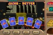Jacks or Better Video Poker InterCasino