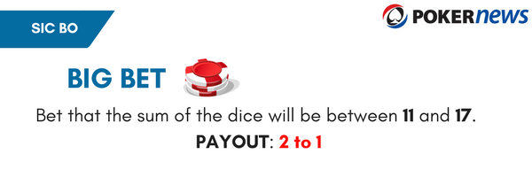 Sic Bo Bets & Rules: Big Bets