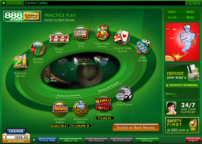 Casino-on-Net Lobby