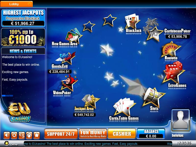 EU Casino Lobby