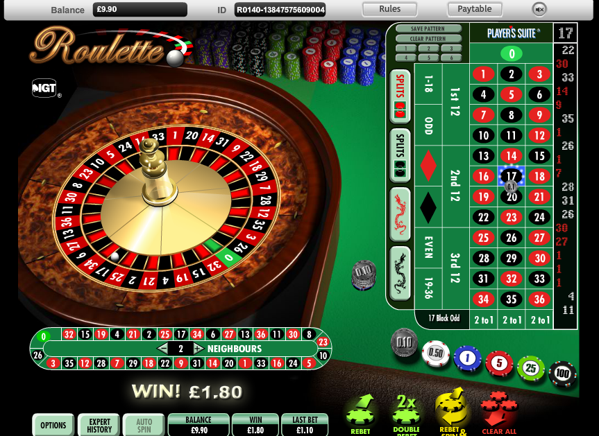 Big winnings roulette