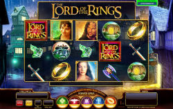 Lord of the rings video slot game