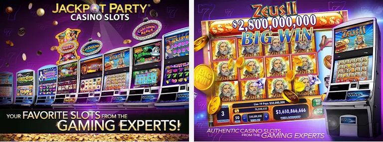 Free slots application for Android 2015: Jackpot Party Casino
