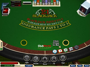 This is what online blackjack looks like