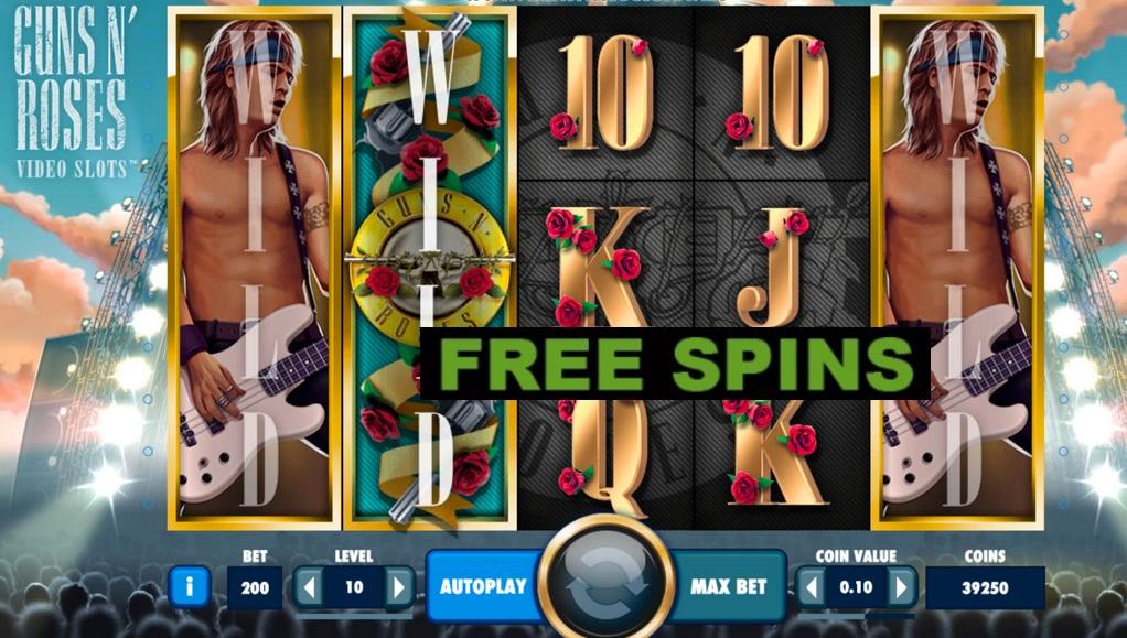 guns n'roses slot bonus