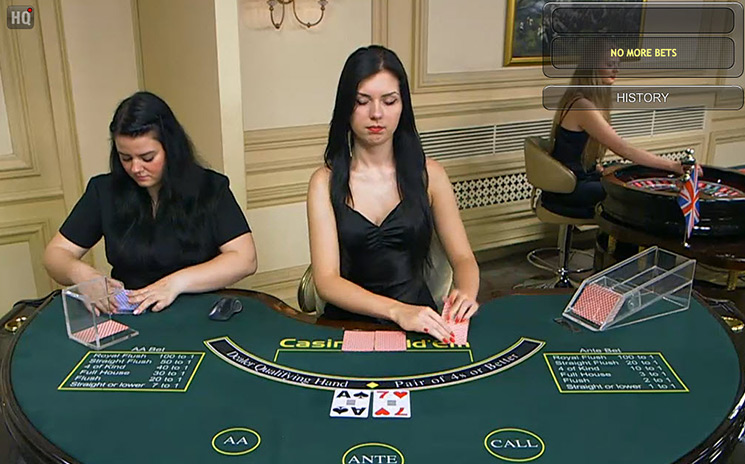 A game of casino hold'em online