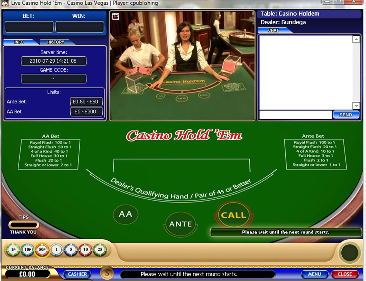 casino holdem calculator