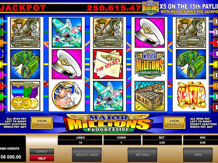 Major Millions online slots