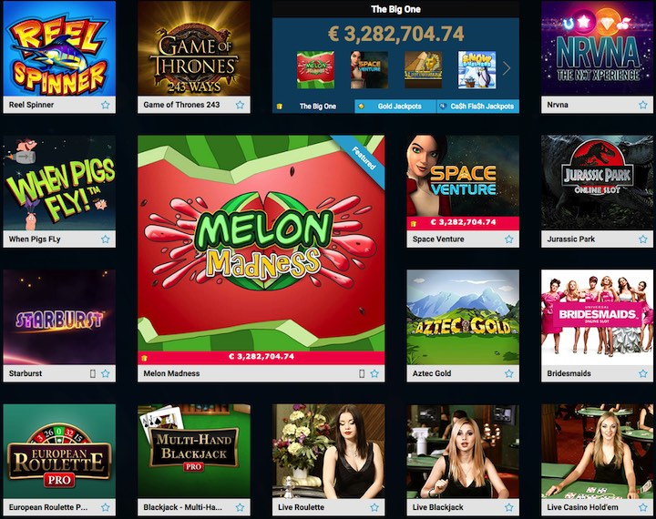 games at  partycasino