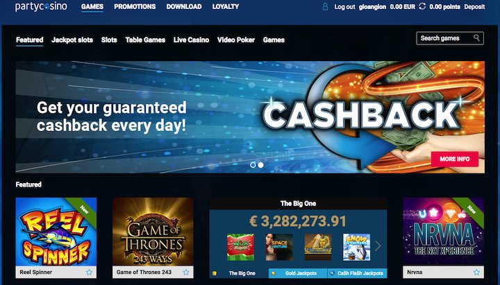 partycasino promotions