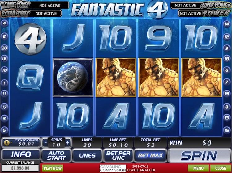 Fantastic Four Slots Game