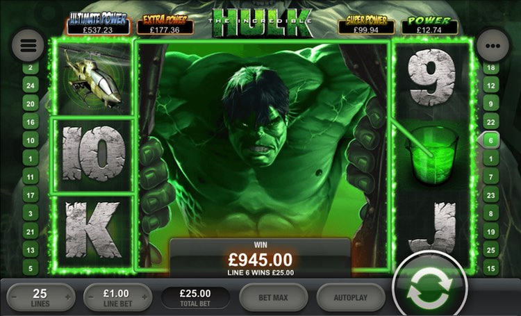 hulk online slots