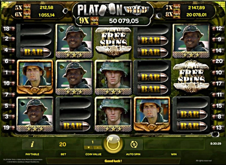 platoon slot machine