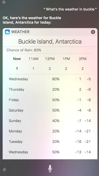 Siri Buckle Island