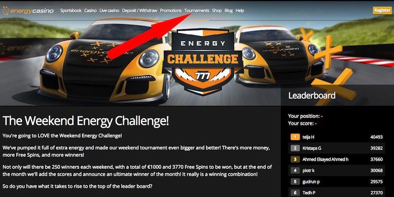 Energy Casino Tournaments
