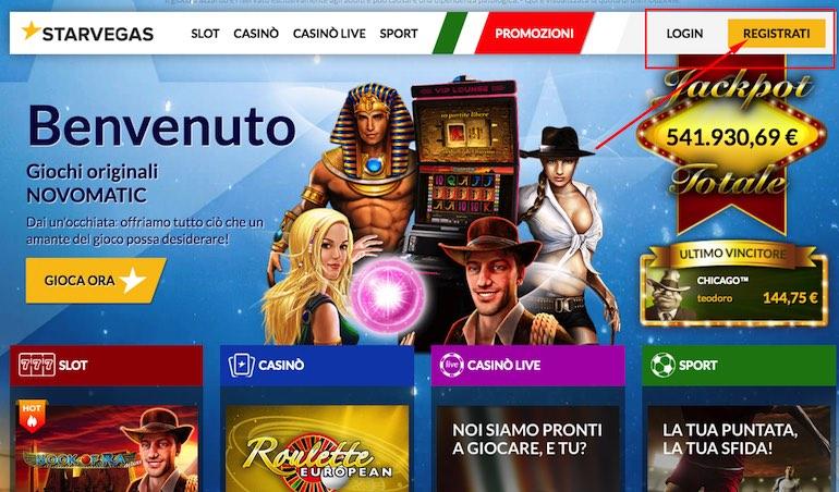 Casino bonus senza deposito italiani