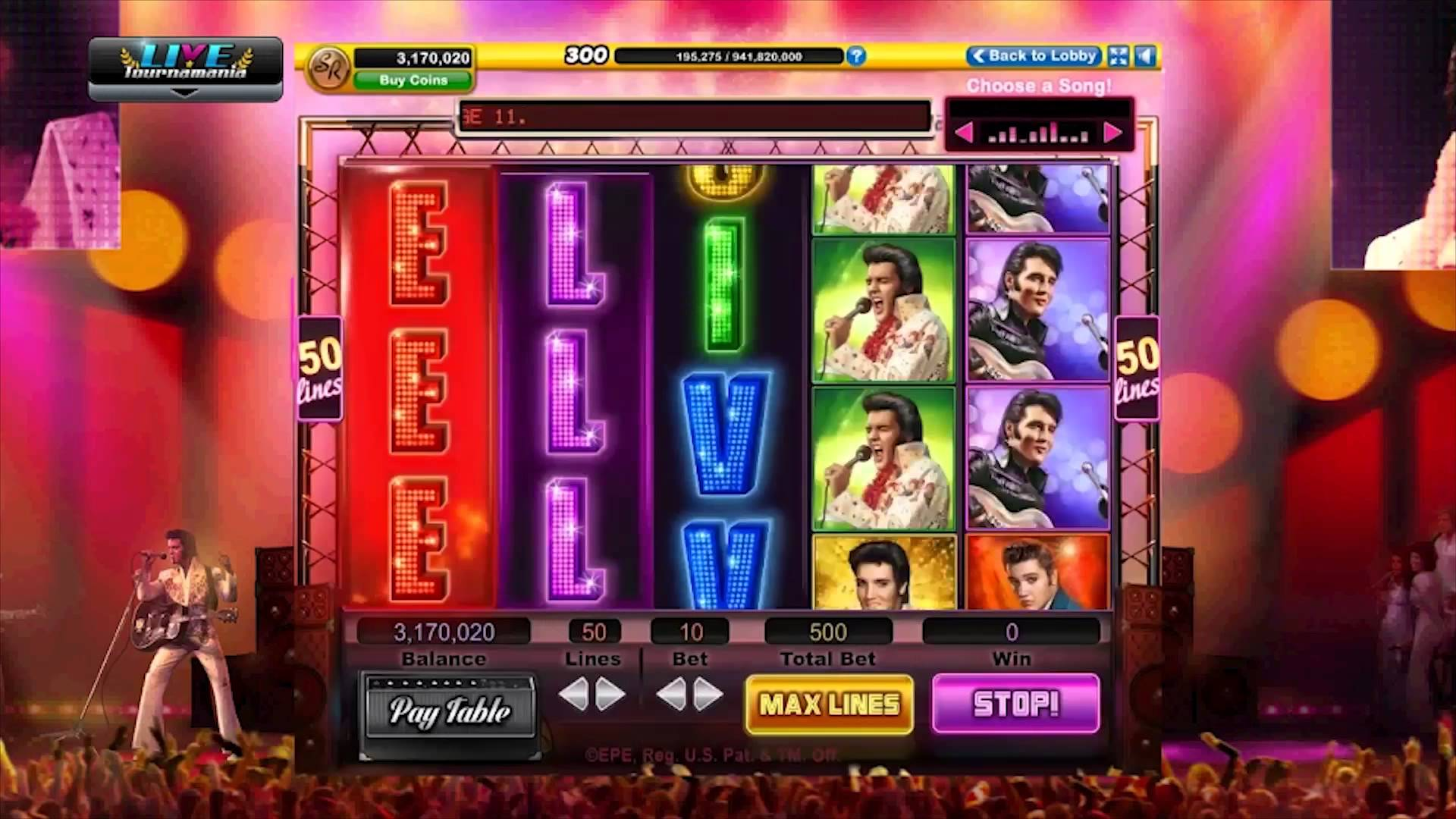 Elvis Top 20 Online Slots Game