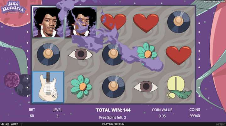 10 Extra Spins on Jimi Hendrix Slot Machine - Rizk Slots Casino