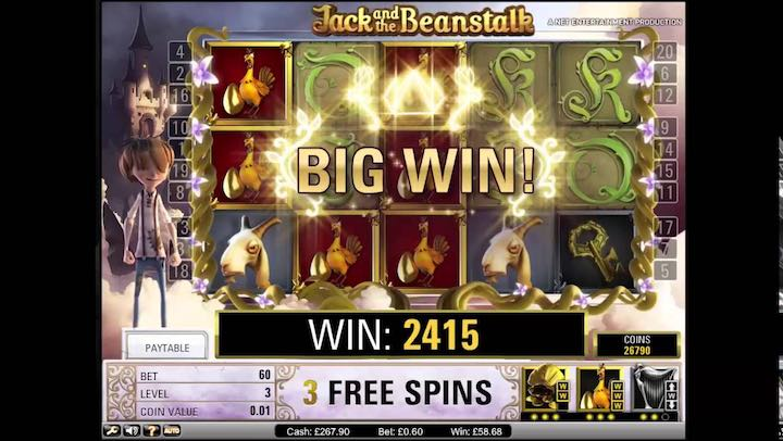 Popular slots games: Jack and the Beanstalk