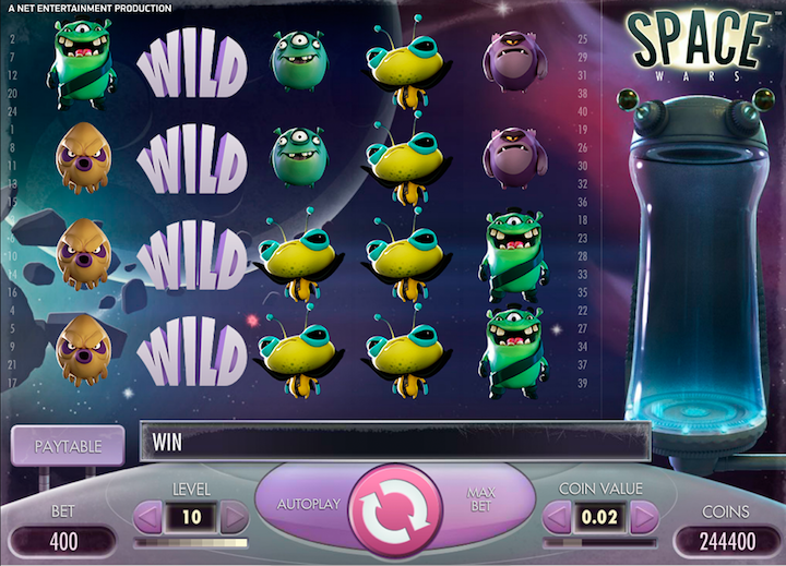 Space Wars Online Slot Game 2018