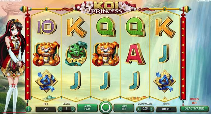 Koi Princess Online Slot Game 2017