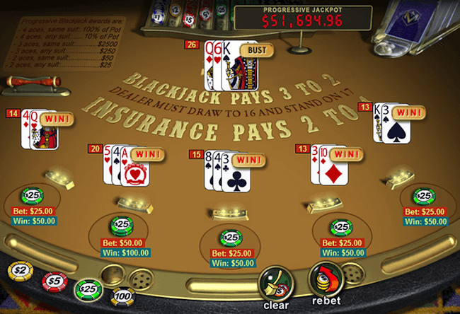 Classic Blackjack - 5 Hand Mode
