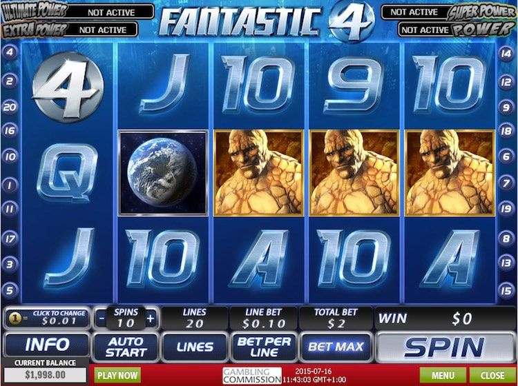 Fantastic Four Slots Game