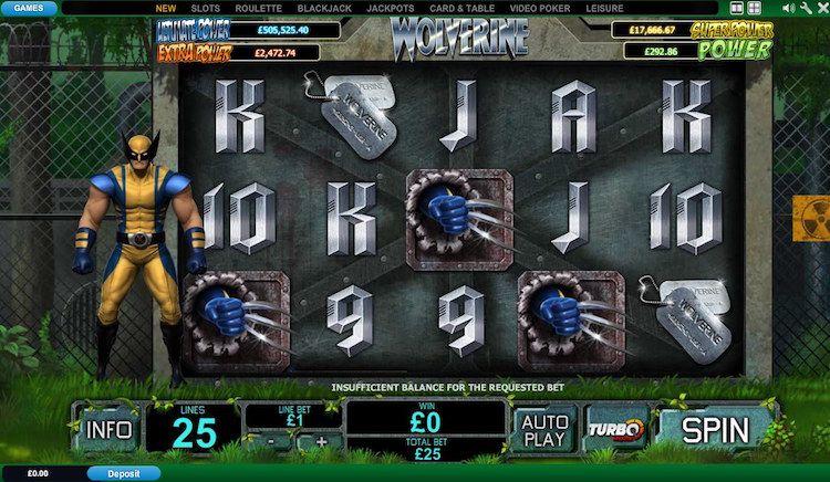 Wolverine online slot