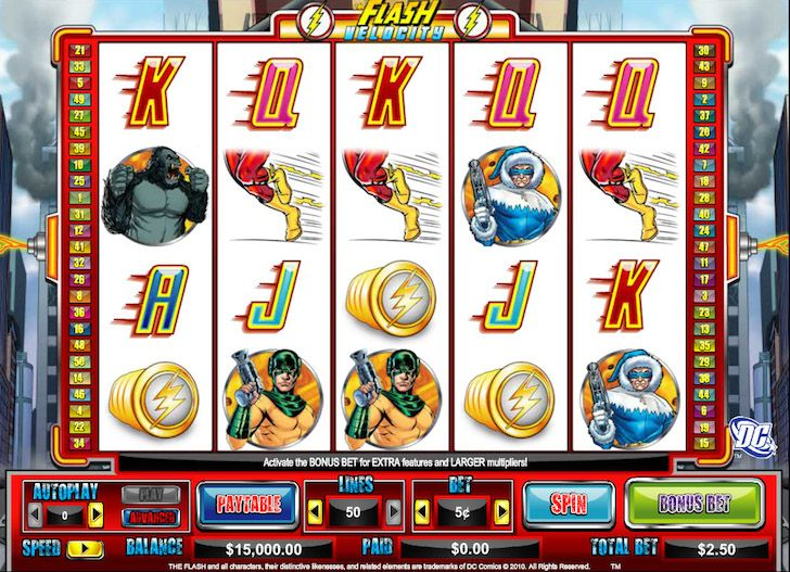 flash velocity slots game