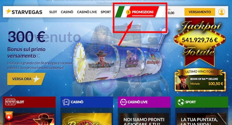 casino online italiani con bonus senza deposito