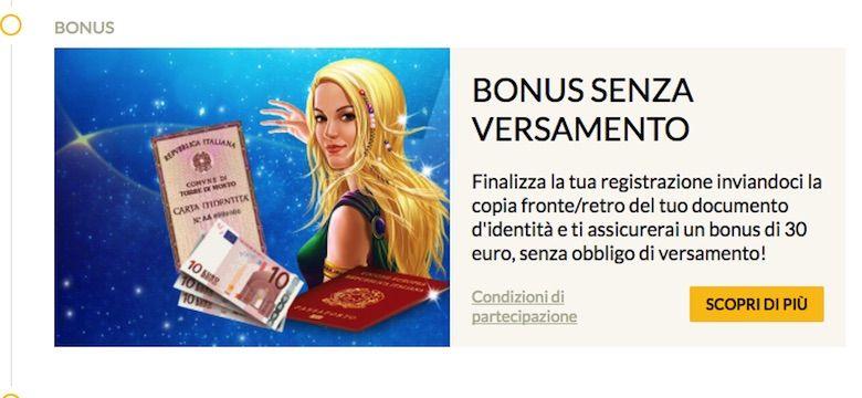 bonus senza deposito casino