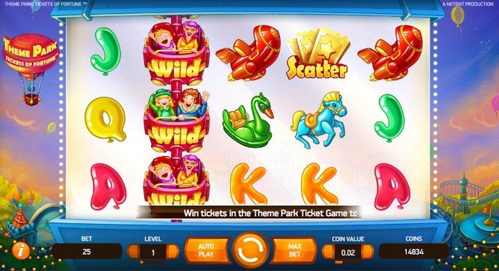 Theme Park Online Slots Popular Names 2018