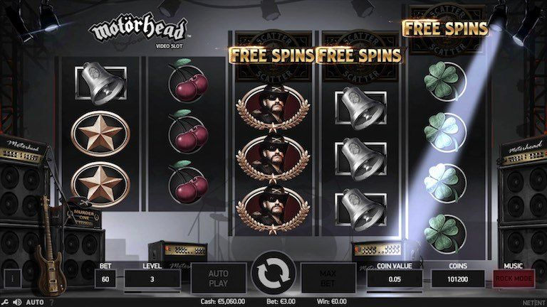 Motorhead Slots Game With Bonus Rounds