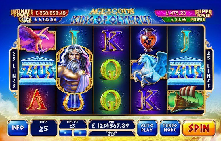 Big Bonus to play Age of Gods slots online