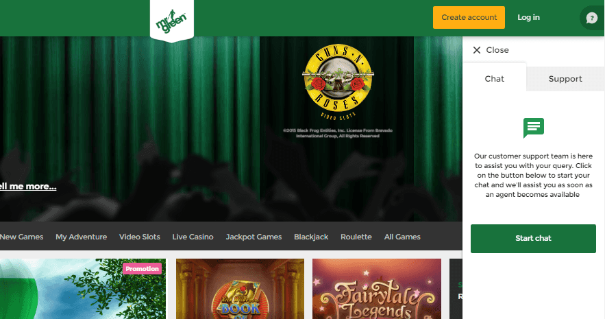 Mr Green Online Casino Customer Service
