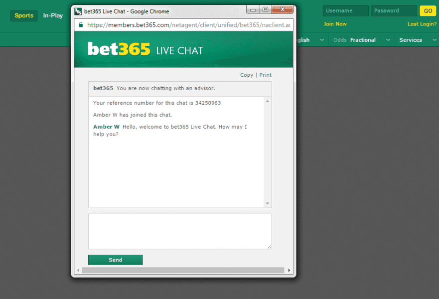 Bet365 Online Casino Customer Service