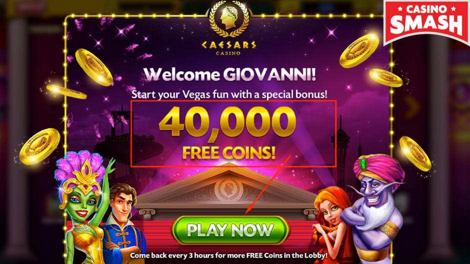 40mila crediti gratis per giocare su Caesars Casino