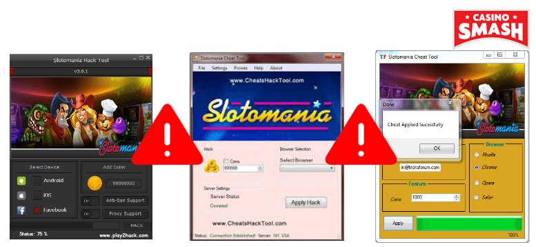 Coin Generators Hacks and Cheats Slotomania