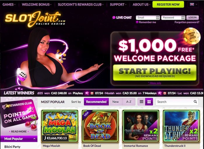 SlotJoint for Android Casino App