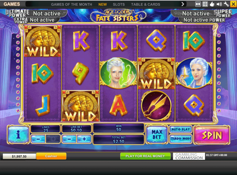 New Slot Machine Age of the Gods Fate Sisters