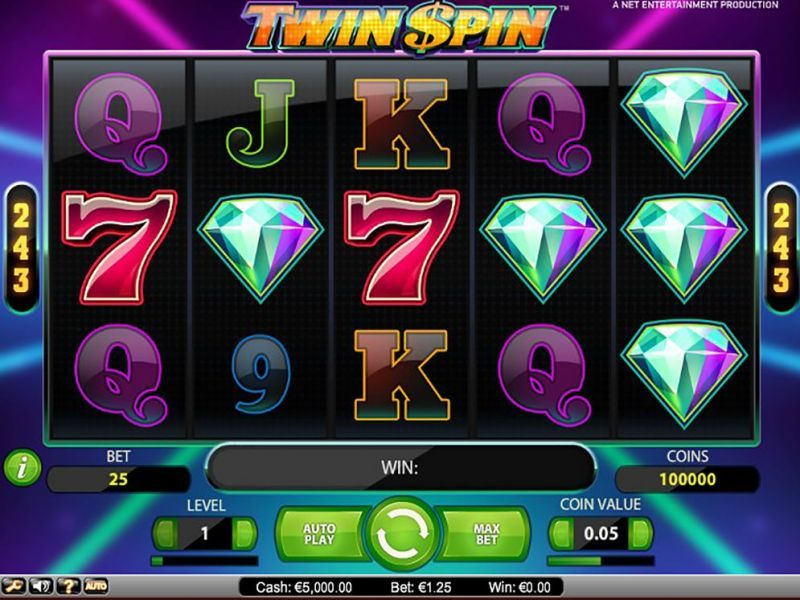 Get 50 free spins on Twin Spin at Lucky Dino Casino
