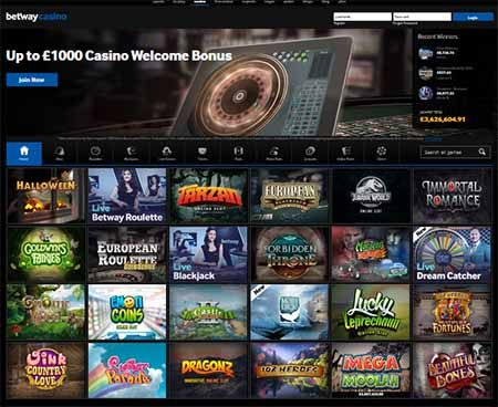 Casino Games at Betway