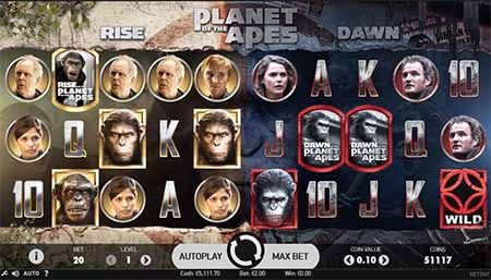 Planet of the Apes at Unibet
