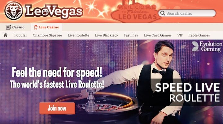 Live Dealer Roulette at LeoVegas Casino
