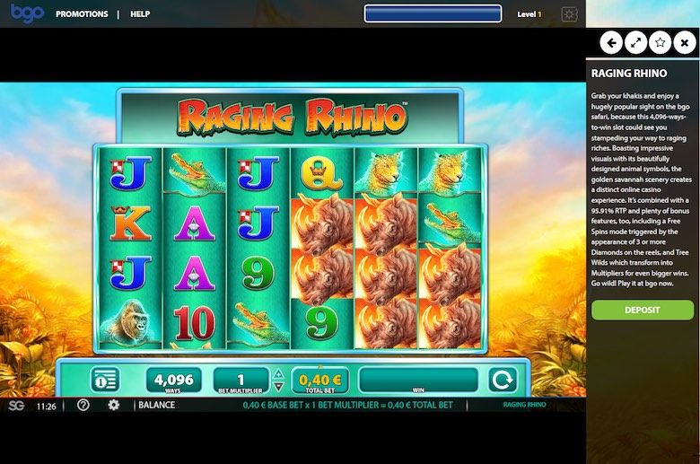 Raging Rhino is one of the best 3d slots games