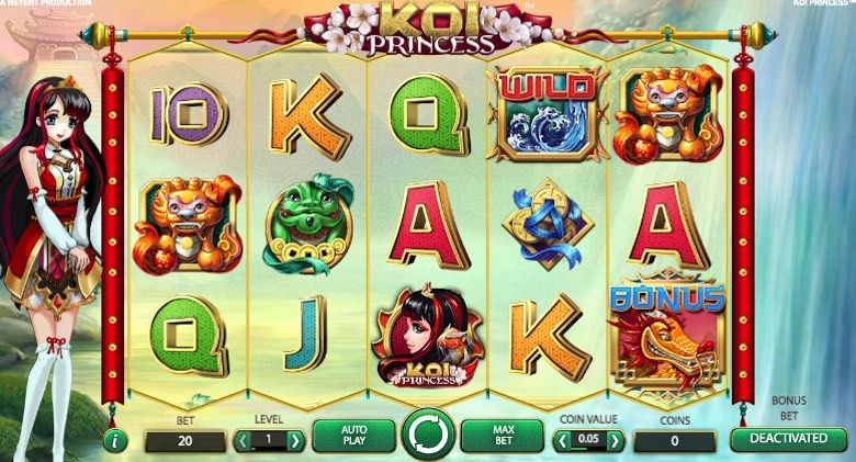 Amazing new 3d slots like Koi Princess