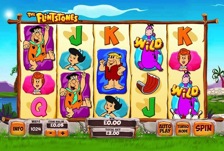 Discover the 3d slots game of the Flintstones