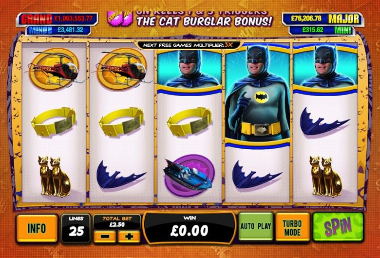 free 3d slots batman and catwoman