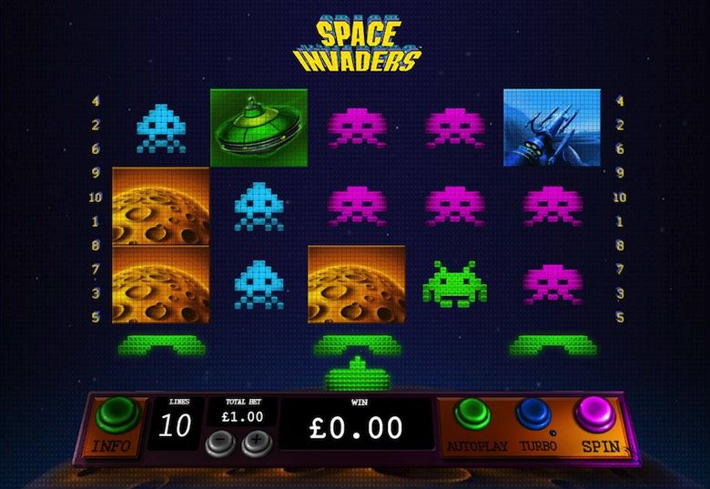 Play the free 3d slots of Space Invaders