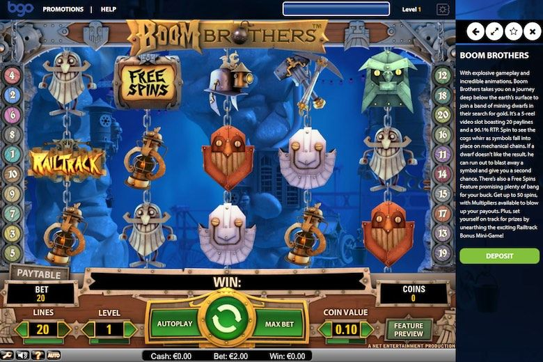 Boom Brothers 3d Slots Game free at Casino
